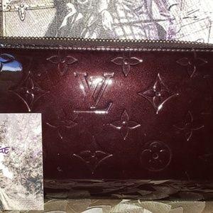 Louis Vuitton amarante Vernis Long Zippy Wallet